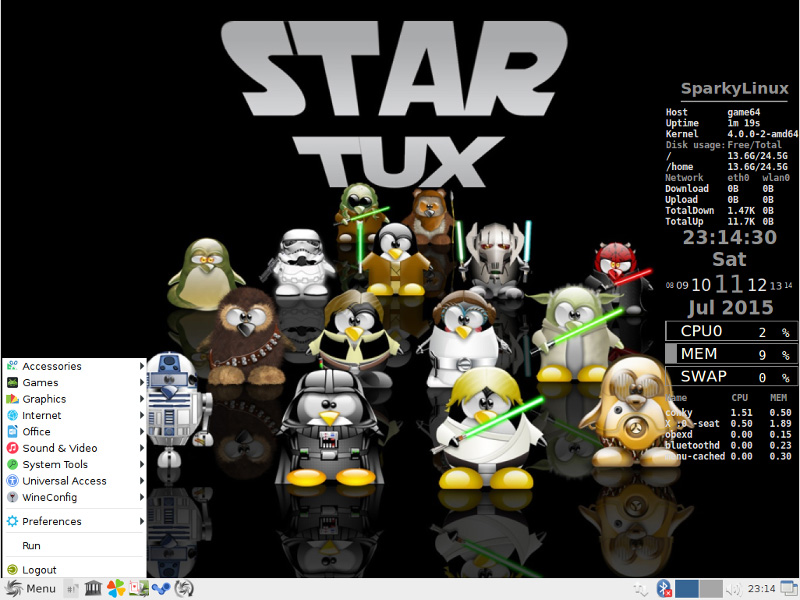 sparkylinux gameover edition