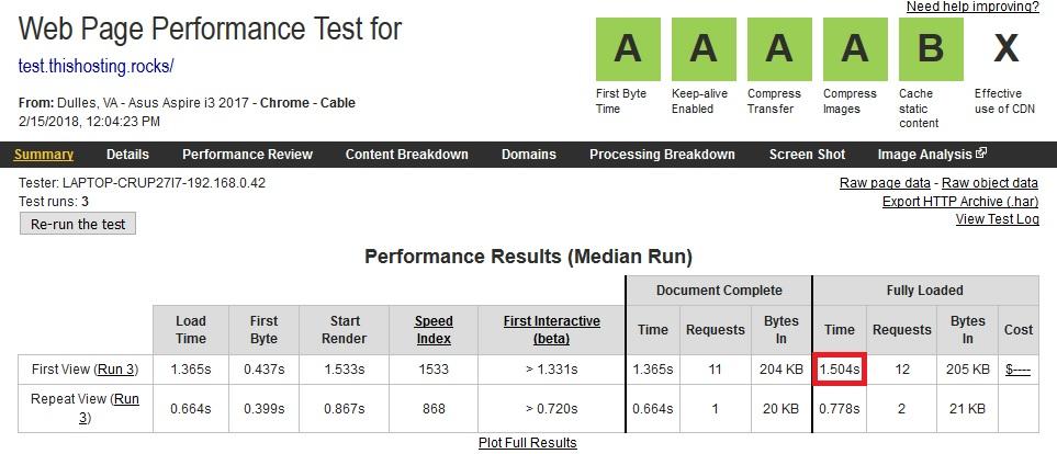 fastcomet speedtest