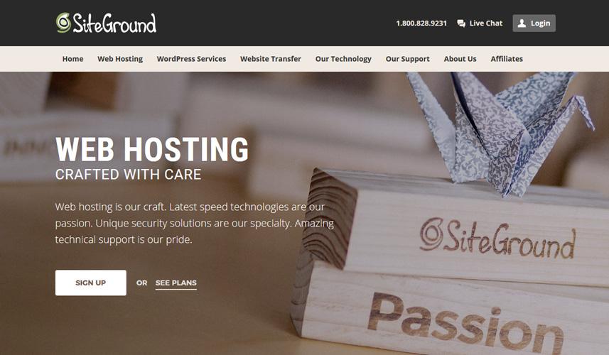 siteground's homepage