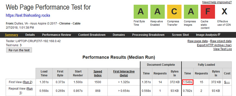 siteground speedtest
