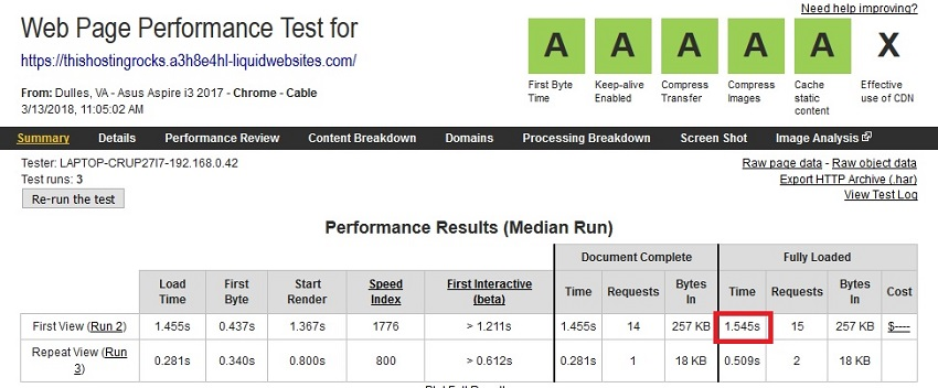 liquidweb speedtest