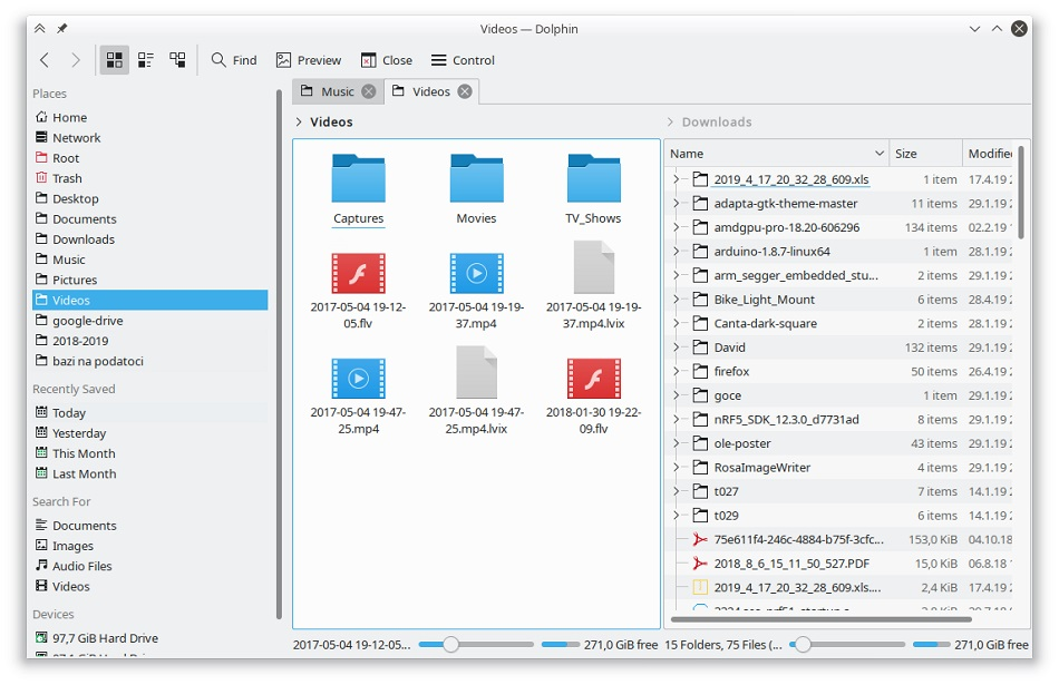 file manager - split