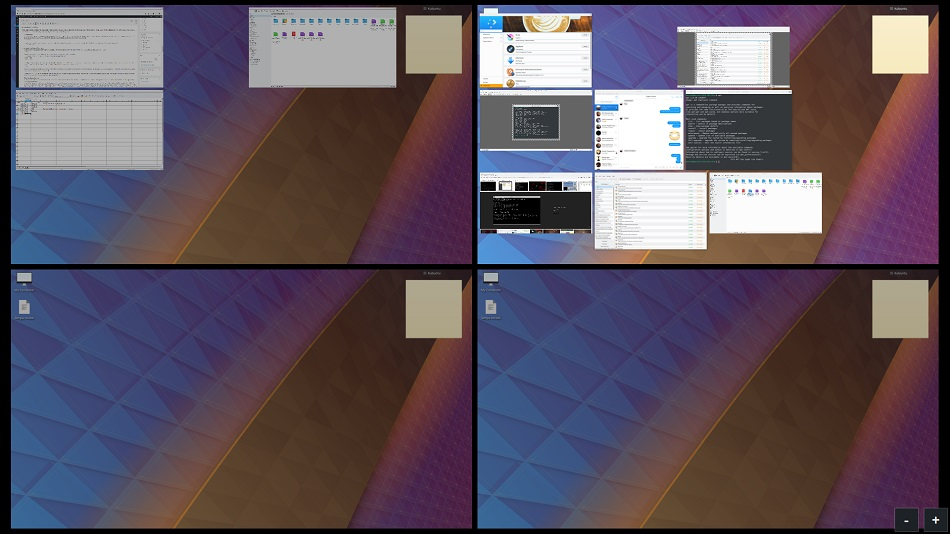 Kubuntu virtual desktops