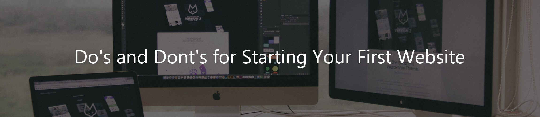 Dos and Donts for starting your first website