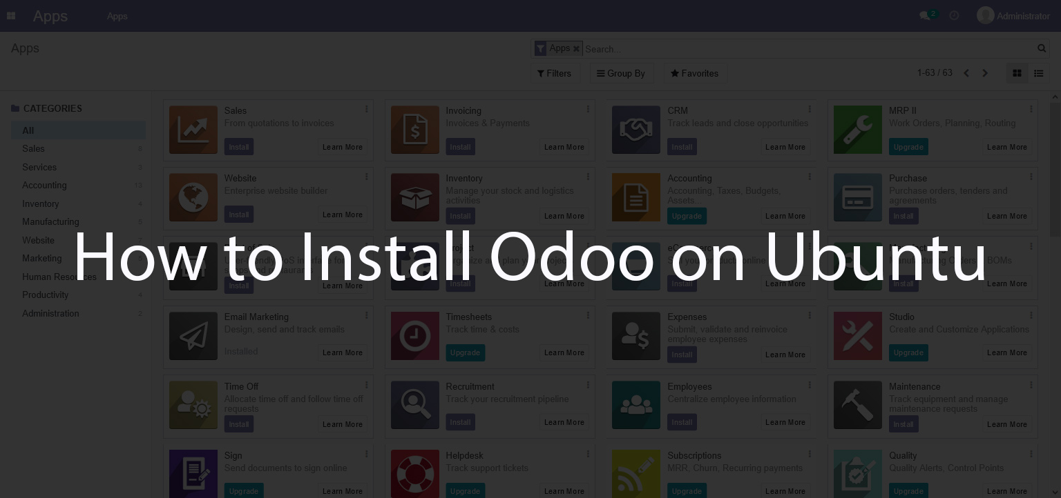How to Install Odoo 14 on Ubuntu 20.04