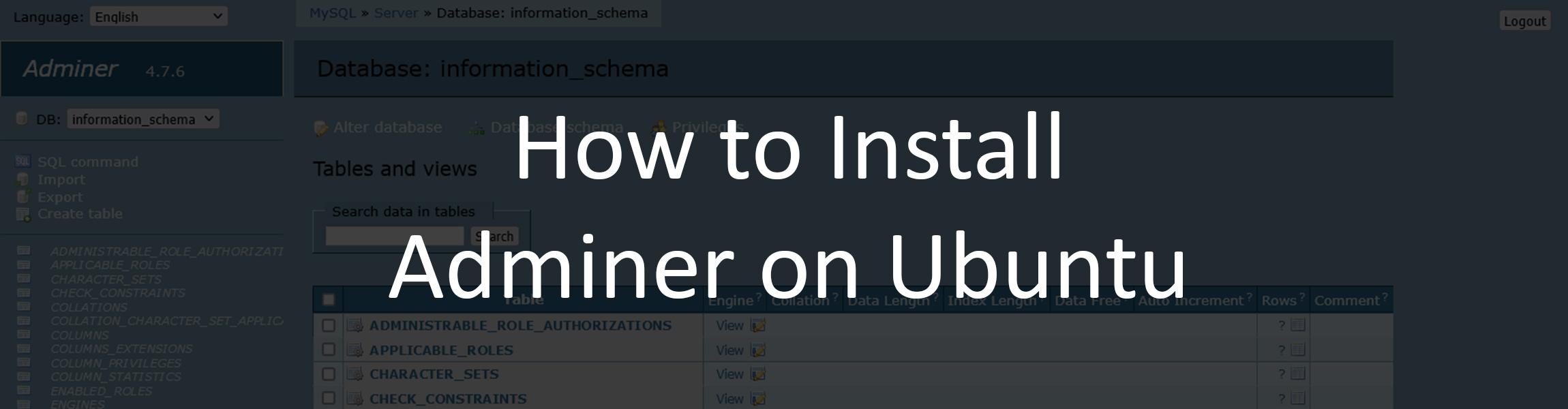 phpMyAdmin Alternative: How to Install and Use Adminer on Ubuntu